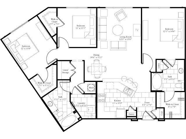 1,462 sq. ft. floor plan