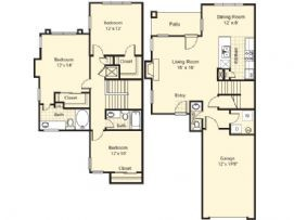 1,456 sq. ft. Granada floor plan
