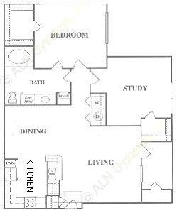 937 sq. ft. D floor plan
