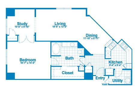 1,193 sq. ft. AT3.1 floor plan