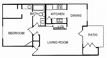 700 sq. ft. A12 floor plan