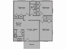 1,042 sq. ft. C1/80% floor plan