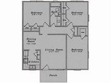 1,042 sq. ft. C1/80% floor plan