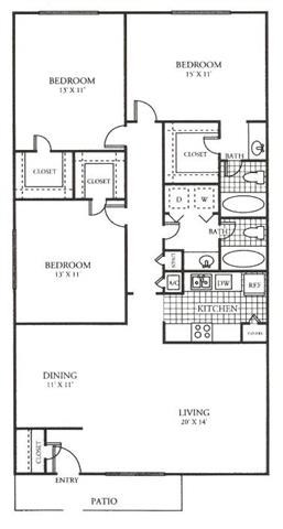 1,402 sq. ft. G floor plan