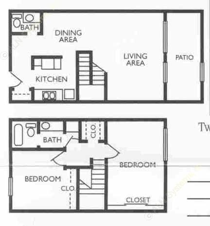 1,218 sq. ft. Controller floor plan