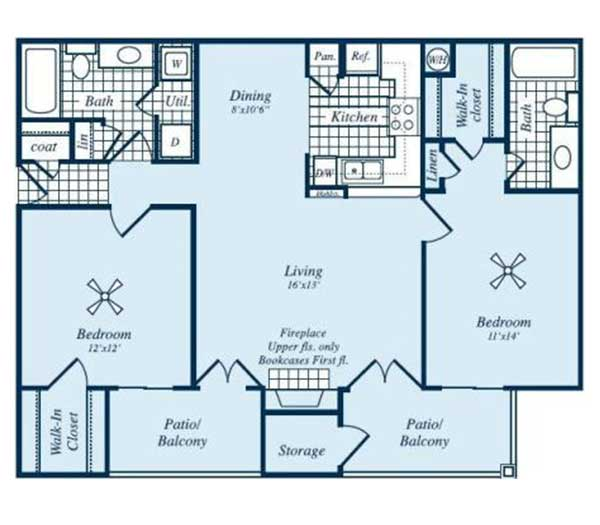 1,035 sq. ft. Fairfield floor plan