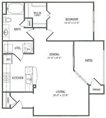 805 sq. ft. Palmetto floor plan