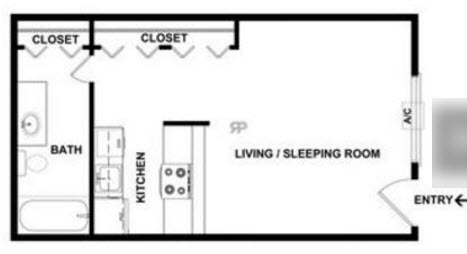425 sq. ft. floor plan