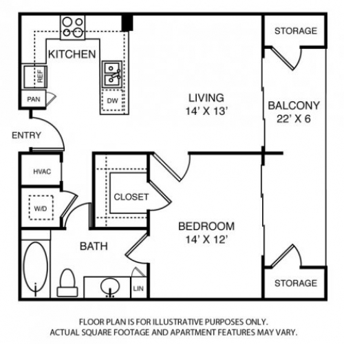 728 sq. ft. A10 floor plan