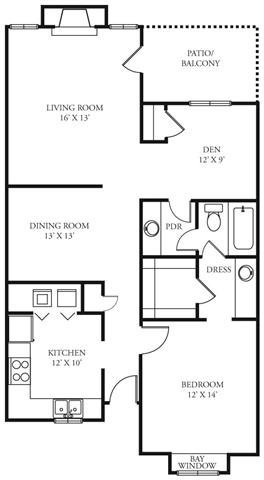 970 sq. ft. Maverick floor plan