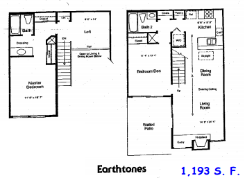 1,193 sq. ft. C floor plan