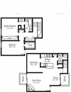 1,280 sq. ft. Cumberland jr floor plan