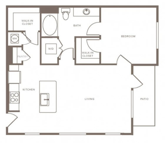 829 sq. ft. A15 floor plan