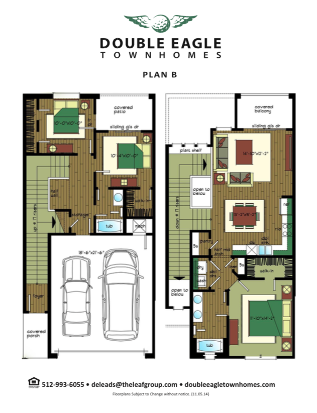 1,369 sq. ft. Plan B floor plan