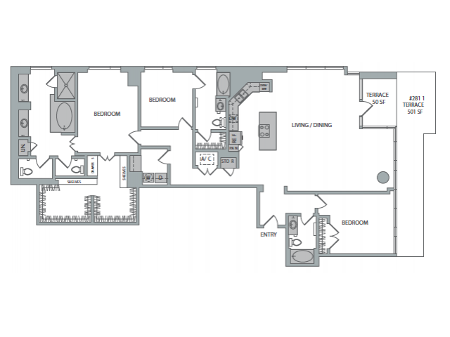 2,567 sq. ft. 3C floor plan