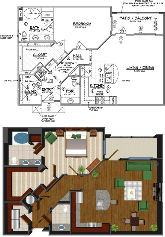 993 sq. ft. G floor plan