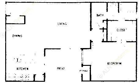 825 sq. ft. A2 ABP floor plan