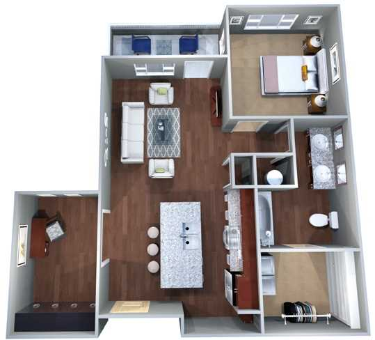 828 sq. ft. 1A.1 floor plan