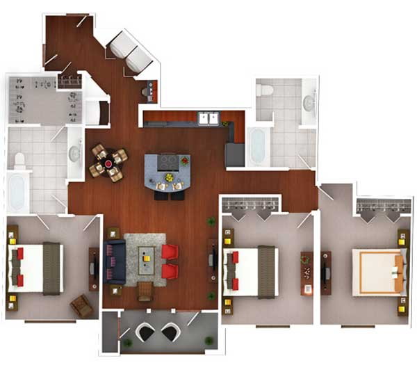1,478 sq. ft. CG3.2 floor plan