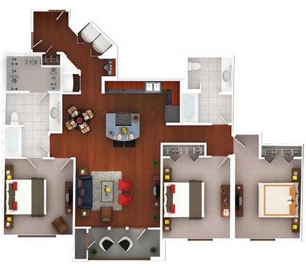 1,478 sq. ft. CG3.2 floor plan
