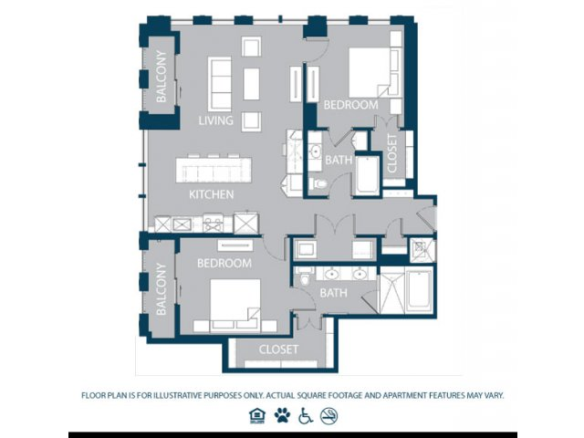 1,333 sq. ft. B2 floor plan