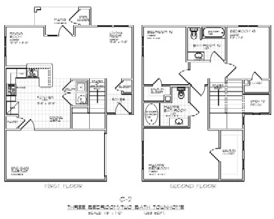 1,268 sq. ft. C2 60% floor plan