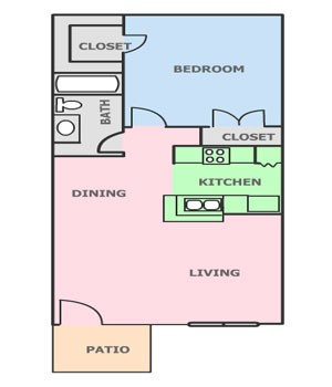 576 sq. ft. C floor plan