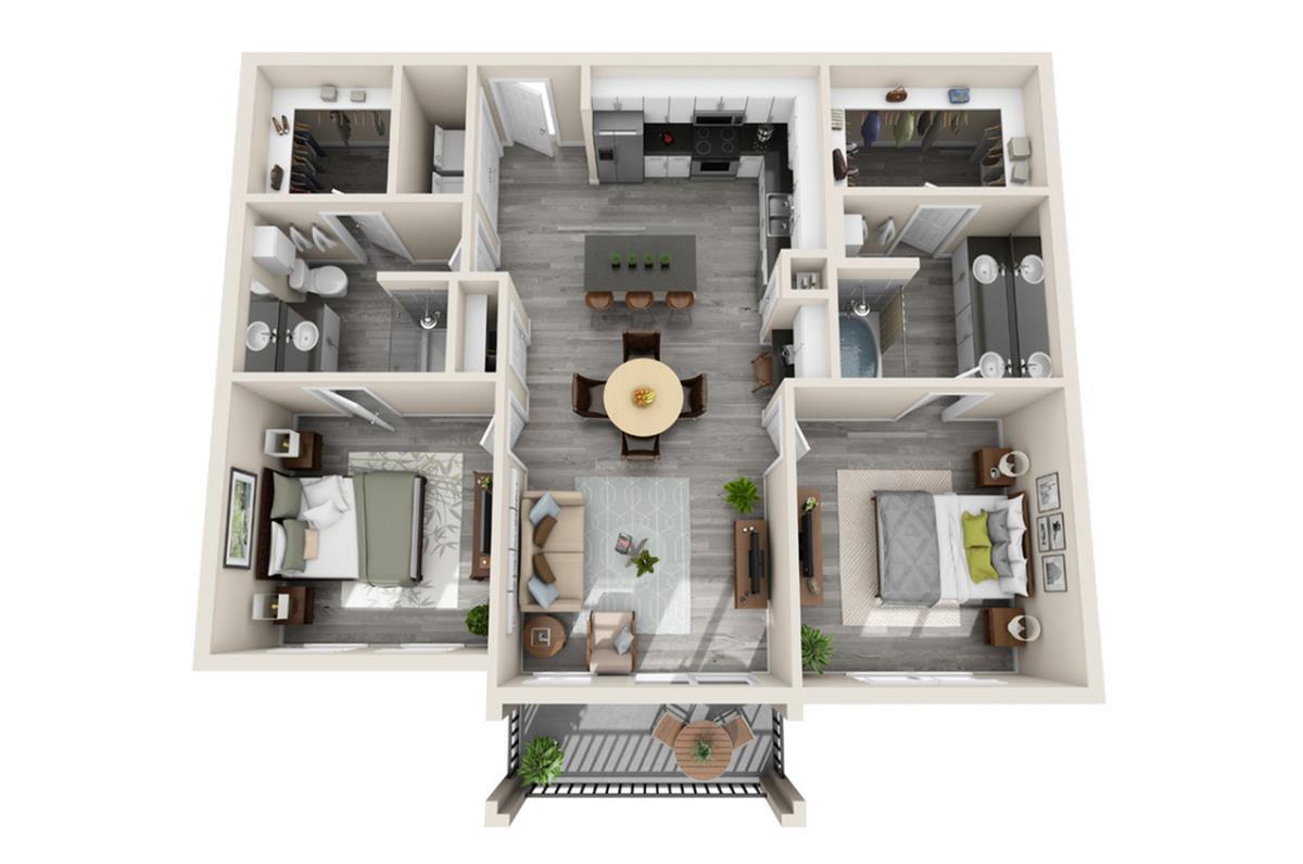 994 sq. ft. Bora Bora floor plan