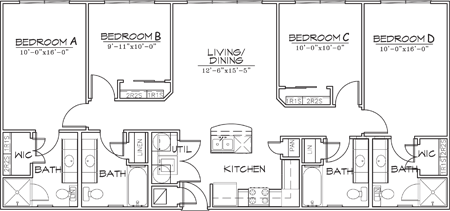 1,356 sq. ft. floor plan