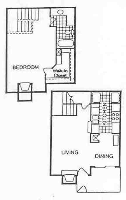 853 sq. ft. Seaspray floor plan