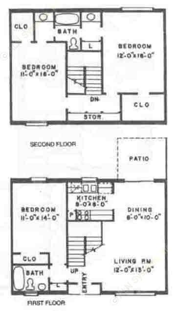 1,425 sq. ft. C2 floor plan