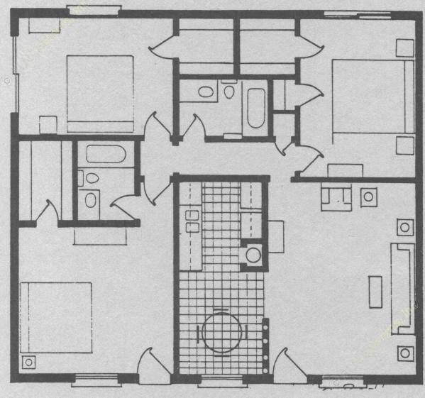 1,221 sq. ft. floor plan