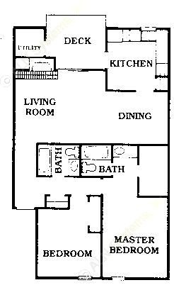 1,150 sq. ft. C3/CONDO floor plan