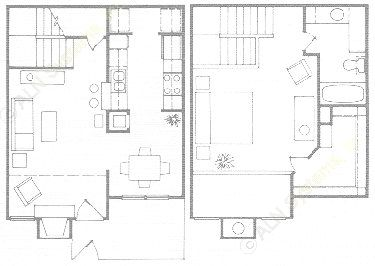 818 sq. ft. A4T floor plan