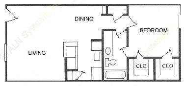 682 sq. ft. floor plan
