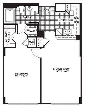 749 sq. ft. A2.1 floor plan