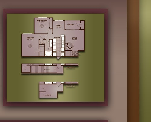 932 sq. ft. A4/MANCHESTER floor plan