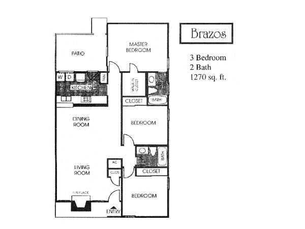 1,270 sq. ft. C1 floor plan