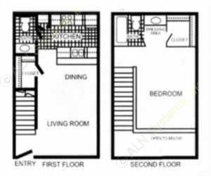 800 sq. ft. Cranford - A5 floor plan
