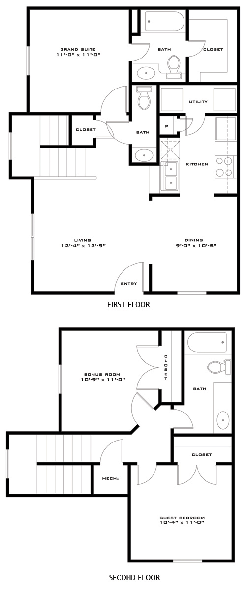 1,143 sq. ft. GOLIAD/60 floor plan