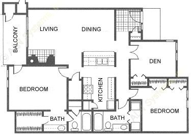 1,304 sq. ft. floor plan