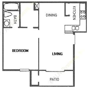 550 sq. ft. A11 floor plan