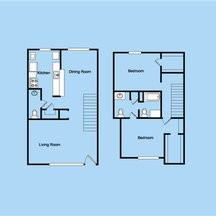 1,492 sq. ft. 3-2.5TH floor plan