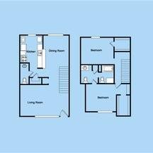 1,492 sq. ft. 3-2.5TH floor plan