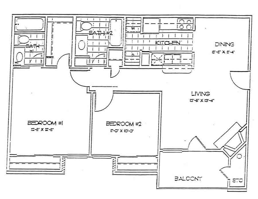 915 sq. ft. WESTMINSTER floor plan