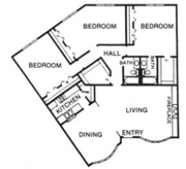 1,870 sq. ft. J floor plan
