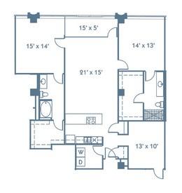 1,644 sq. ft. B8 floor plan