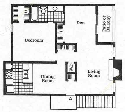 852 sq. ft. A5 floor plan