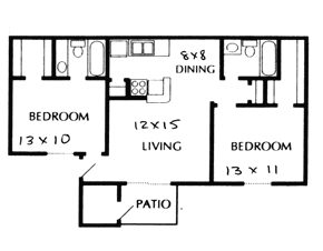 859 sq. ft. C floor plan