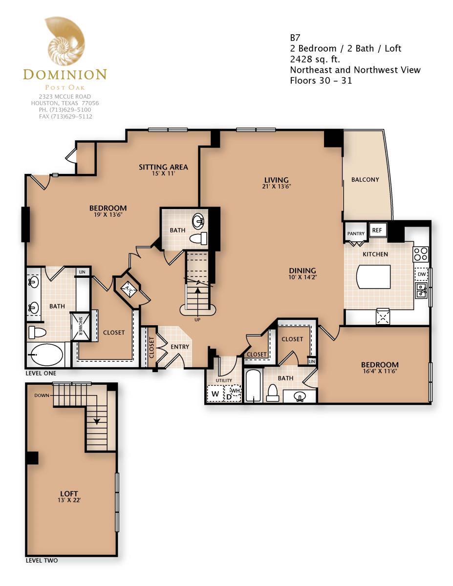 2,428 sq. ft. B7/PENTHSE floor plan